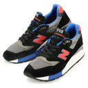 【メンズ】New Balance M998CBL Made in USA ニューバランス スニーカー ジョギング ランニング シューズ 靴 998 ブラック グレー ブルー レッド スエード メッシュ