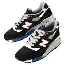 【メンズ】New Balance M998BK ニューバランス スエード レザー スニーカー 靴 ブラック 998