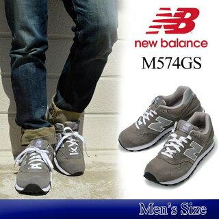 【メンズ】NewBalanceM574GSニューバランススニーカーグレースエードレザー574