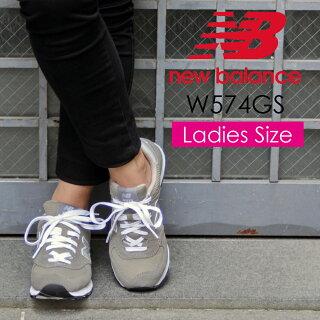 【レディース】NEWBALANCEW574GSニューバランススニーカーグレースエードレザースポーツシューズ靴574