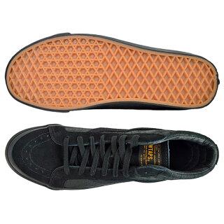 【メンズ】VANSVaultxWTAPSSk8-hiLXVN0-OZEGW6バンズヴォルトダブルタップスコラボスケートハイスリムスニーカー靴ブラックレザースエード黒サーフラインボルト