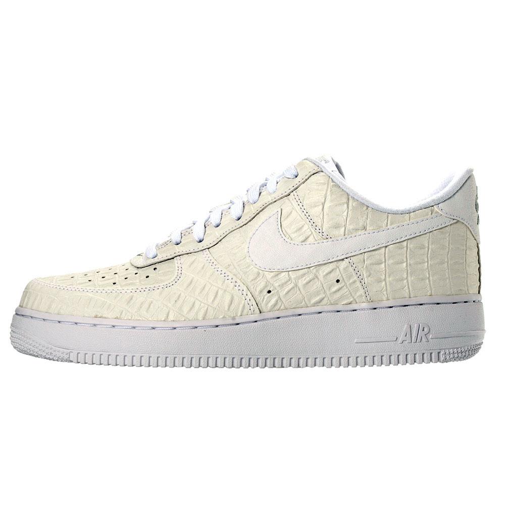 nike air force 1 07 lv8 718152 103 nike air force 1 crocodile white white bash sneakers shoes air force crocodile white