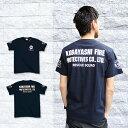 【クーポン対象外】WネームTシャツ type5 (50-048):[RESCUE SQUAD](Tシャツ メンズTシャツ 半袖 ネイビー 消防 メンズファッショ...