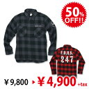 [Final Sale]FDRS247チェックシャツ:RESCUE SQUAD[レスキュースクワッド]