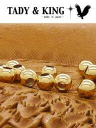 k18中空ビーズ5mm(1個売りSVアクセ ネイティブアクセサリー メンズ シルバー フェザー ネックレス リング ペンダント バングル TADY&KING【タディ&キング】【goro's(ゴローズ)魂継承】