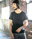 【CAMBIO(カンビオ)】Fraise Stitch U-Neck Short Sleeve Tシャツ(CMB-FS-MT003)