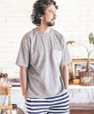 【ANGENEHM(アンゲネーム)】1712-308AN-Mini Pile Pocket Tシャツ(MADE IN JAPAN)