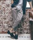 【CAMBIO(カンビオ)】【予約販売2月中旬〜下旬入荷】Lyocell Tuck Wide Tapered Pants パンツ