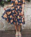 【dazzlin(ダズリン)】021730801701-フラワーボリュームフレアスカート