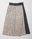【Rosarymoon(ロザリームーン)】17RW-1507-レオパードプリントプリーツスカート
