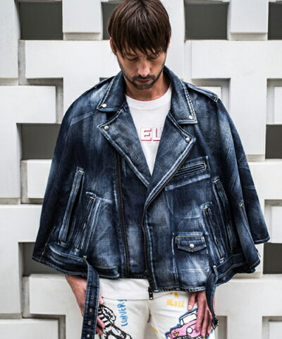 【GLAMB by glamb】【予約販売2月中旬〜下旬入荷】GG0118-JKT01-Riders manto-〈ライダースマント〉