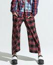 【ANSEASON ANREALAGE】check wide short pants ショーツ(19sas186)