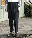 【MROLIVE(ミスターオリーブ)】RETORO POLYESTER TWILL -BELTED WIDE TAPERED PANTS パンツ(M-19101)