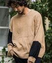 【CAMBIO(カンビオ)】【予約販売10月下旬〜11月上旬入荷】Mohair Asymmetry Switch Loose Knit Pullover ニット(TMA9-047)