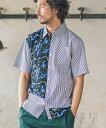 【CAMBIO(カンビオ)】Pattern Switch Short Sleeve Shirts シャツ