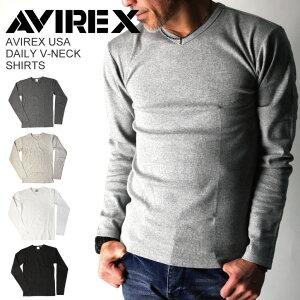 アビレックス(AVIREX)/AVIREXUSADAILYV-NECKSHIRTSVネックシャツ/メンズレディース