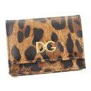 【ドルチェアンドガッバーナ】Dolce&Gabbana レオパード コンパクトウォレット BI1048 財布 【中古】【鑑定済・正規品保証】84018
