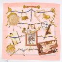 楽天retro【エルメス】Hermes カレ90 シルクスカーフ Memoire d'Hermes(エルメスの思い出)ピンク 【中古】【鑑定済・正規品保証】【送料無料】12775
