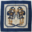 【エルメス】Hermes カレ90 シルクスカーフ BRIDES DE GALA(式典用馬勒) ブルー 【中古】【鑑定済・正規品保証】【送料無料】14320