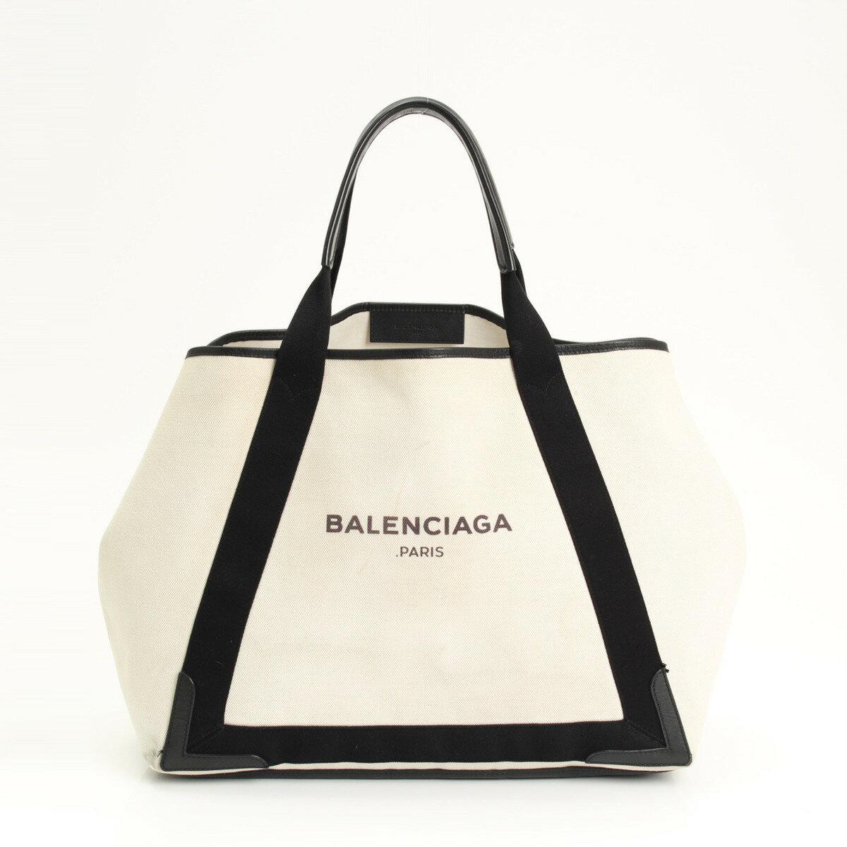 【バレンシアガ】Balenciaga カバス キャンバス レザー トート 339936 【中古】【鑑定済・正規品保証】【送料無料】15514
