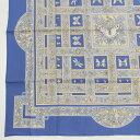 【エルメス】Hermes カレ90 シルクスカーフ joyaux de LETE 夏の宝石 ブルー 未使用【中古】【鑑定済・正規品保証】【送料無料】17129