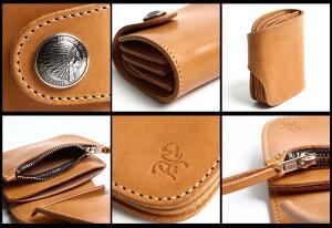 REDMOONレッドムーン別注二つ折り財布HR-01A-MID黒メンズ二つ折り財布ショートウォレットレザー
