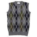 ショッピングアーガイル soglia ソリア|LANDNOAH Vest Argyle (グレイ)(ランドノアベスト アーガイル)