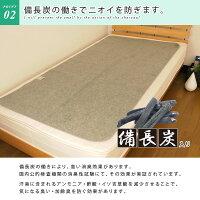 洗える除湿シート/セミダブルサイズ/備長炭入り/消臭力アップ/加齢臭も消臭/吸湿シート