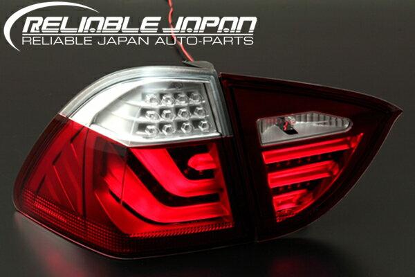 「限定5セット!!」【激安セール】【RELIABLE JAPAN(リライアブルジャパン)】BMW E91 前期 ステーションワゴン3Dライトバー仕様LEDテールレッドクリアレンズ/レッドスモーク/オールスモーク