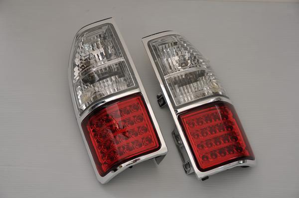ランドクルーザープラド(90/95系)LEDテールランプメッキ枠Prado/ランクル/リア/ライト