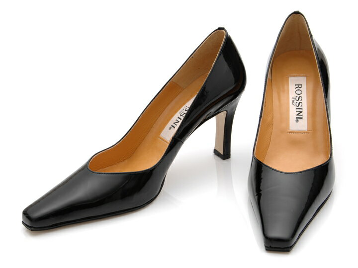 ☆21.Pure pumps / heel 8cm of the 8cm heel of the ♪【 ROSSINI 】 V cut which I can make to 5cm - 25.5cm even if ☆ is out of stock