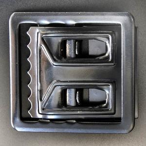 Rothco ベルトバックル 布ベルト用 ブラック 交換用 ベルト用バックルのみ アメリカンバックル USAバックル BUCKLE メンズ 取替え用バックル