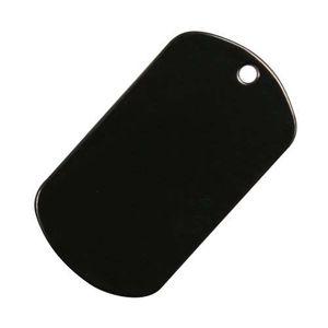 ドッグタグ プレート 8393 ブラック   ドックタグ 認識票 DOG TAG つやあり 艶あり つやなし メンズアクセサリー