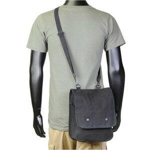 Rothco ショルダーバッグ マップケース アースブラウン [ ブラック ] ブラックiPad収納ケース   ショルダーバック メッセンジャーバッグ かばん カジュアルバッグ カバン 鞄 ミリタリー 帆布 斜めがけバッグ
