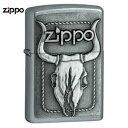 ZIPPO ブルスカル #20286 サテンクロム Bull Skull エンブレム | ジッポー オイルライター