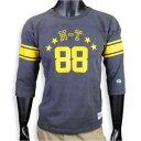 チャンピオン Tシャツ 7分袖 フットボール 88 メンズ [ ブラック / XLサイズ ] C3-D403 090 ロチェスター CHAM...