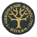 ボーカー ワッペン BO02265 ボーカーロゴ ブラック boker ミリタリーワッペン ミリタリーパッチ アップリケ 記章 徽章 襟章 肩章 胸章 階級章