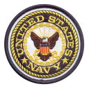 Rothco ミリタリーワッペン 1590 アメリカ海軍 U.S.NAVY 熱圧着式   ミリタリーミリタリーパッチ アップリケ 記章 徽章...