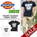 【20%OFF・SALE(セール)】 Dickies(ディッキーズ)×GREENDAY コラボ プリント半袖Tシャツ 132M30GD04