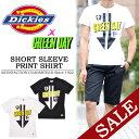 【20%OFF・SALE(セール)】 Dickies(ディッキーズ)×GREENDAY コラボ プリント半袖Tシャツ 132M30GD02