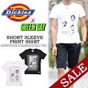 【20%OFF・SALE(セール)】 Dickies(ディッキーズ)×GREENDAY コラボ プリント半袖Tシャツ 132M30GD05