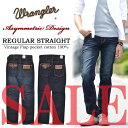 【お買い得商品・アウトレット・数量限定】 Wrangler(ラングラー) WVS ヴィンテージ サドルフラップ デニム ジーンズ W06366