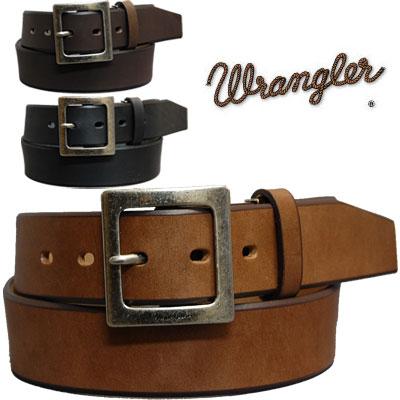 Wrangler(ラングラー)プレーンレザーベルト 日本製 WR4079