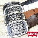 【送料無料】Levi 039 s(リーバイス) ツーホースロゴバックル レザーベルト 70216067 【楽ギフ_包装】