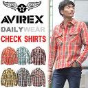 【送料無料】 AVIREX アビレックス 長袖 フランネル チェック ワークシャツ 長袖シャツ ネルシャツ チェックシャツ メンズ トップス 6165132 【楽ギフ_包装】