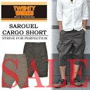 【53%OFF・SALE(セール)・半額以下】 TWENTY WORKS (トゥエンティワークス) サルエルデザイン ダンプカーゴショーツ 232-120