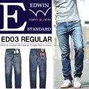 【送料無料】 EDWIN(エドウィン) E STANDARD レギュラーストレート ストレッチデニム ジーンズ 日本製 パンツ メンズ ED03-826 ヴィンテージユーズド 【楽ギフ_包装】