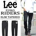 Lee リー EURO RIDERS スリムテーパード カラーパンツ 日本製 国産 ストレッチ素材 メンズ Lee LM0813-275 ブラック