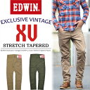 【送料無料】 EDWIN エドウィン XV KHAKIS モバイルポケット テーパードパンツ ワークパンツ メンズ KX0004 【楽ギフ_包装】