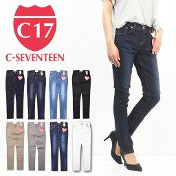 C17 C-<strong>SEVENTEEN</strong> レディース 股上ふつう スキニー デニム ジーンズ シーセブンティーン 送料無料 C326